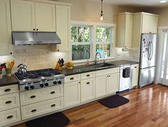 Corian Linen Counters Benjamin Moore Senora Gray Cabinets