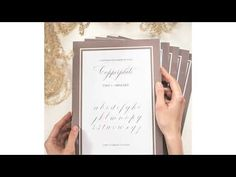 Cvičebnice kaligrafie ve stylu Copperplate - YouTube