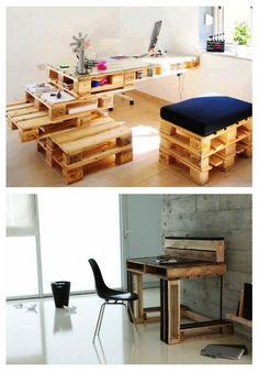 europaletten holz paletten möbel bastelideen DIY cool modern stapeln