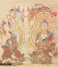 Bezeklik Bin Buda Mağarası, Oturan Budalar, Uygur dönemi