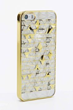 Triangle Prism iPhone 5 Case in Gold - Urban Outfitters