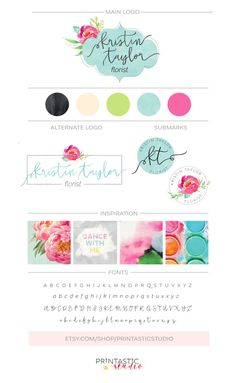 Floral Branding Package, Watercolor Branding Kit, Floral Logo Design Flower Calligraphy Photography Florist Logo Watermark Boutique Business Informations About Items similar to Floral Branding Package Branding Your Business, Branding Kit, Corporate Branding, Branding Ideas, Logo Ideas, Brand Identity Design, Branding Design, Logo Design, Graphic Design