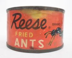 Vintage Tin Reese Finer Foods Inc Fried Ants Made in Japan Circa Unopened with Original Contents Intact! (Yum Yum When Can We Eat? Gross Food, Weird Food, Retro Recipes, Vintage Recipes, Food Inc, Bad Food, Exotic Food, Food Humor, Funny Food