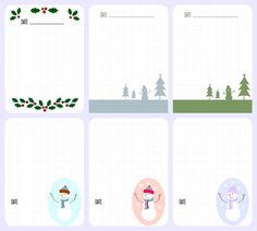 6 Free Winter Printable Journal Cards