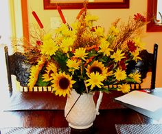my fall flower arrangment