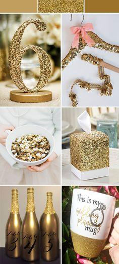 DIY glittery chic wedding theme ideas