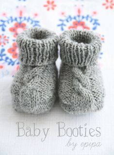 Baby Knitting Patterns Yarn Knitting instructions for baby booties for free knitting – Bootie knitting Baby Booties Knitting Pattern, Knitted Booties, Easy Knitting Patterns, Crochet Baby Booties, Knitting For Kids, Knitting Socks, Free Knitting, Knitting Projects, Knit Crochet