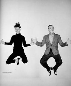 Audrey Hepburn and Fred Astaire in Funny Face 1957