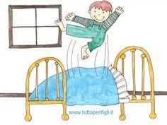 Troppo divertente saltare sul lettone, ma è veramente pericoloso. #bambini #genitori