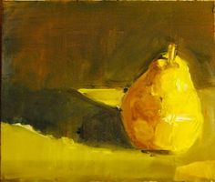 "Autumnal Pear by Ian Costello Oil ~ 7"" x 6"""