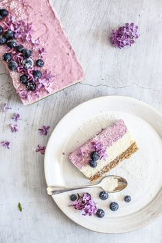 ... vegan blueberry  cheesecake ...