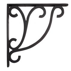 With just a touch of flourish, the Minimalist Scroll Cast Iron Shelf Bracket adds subtle decoration and support to shelving projects. This bracket made of durable cast iron in a finish to match your decor. Wrought Iron Shelf Brackets, Decorative Shelf Brackets, Metal Shelves, Shelving, Shelf Brackets Minimalist, Wrought Iron Trellis, Marble Shelf, Wall Mounted Desk, Manualidades