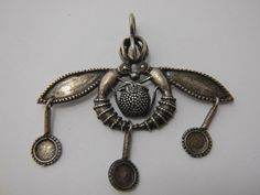 Antique Jewelry, Silver Jewelry, Antique Necklace, Charm Necklace, Double Bee of Malia Jewellery, ancient greek design .
