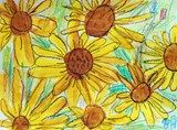 Artsonia Art Exhibit :: Grade 1 Van Gogh Sunflowers