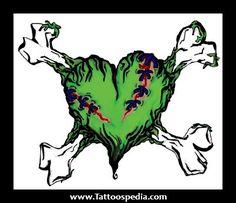 zombified heart and cross bones Voodoo Doll Tattoo, Voodoo Dolls, Cute Zombie, Zombie Girl, Zombie Drawings, Art Drawings, Zombie Kunst, Zombie Dance, Zombie Tattoos