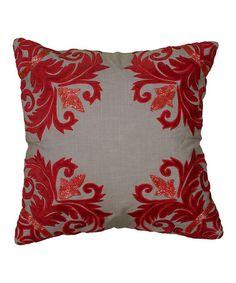 Look at this #zulilyfind! Red & Gray Velvet Pillow Cover #zulilyfinds