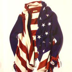 American flag cardigan.