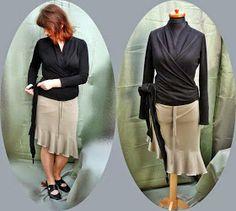 Patrón gratis: blusa envolvente de Burda (2 versiones)