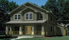 Dark Green House Paint Color exterior-house-inspiration