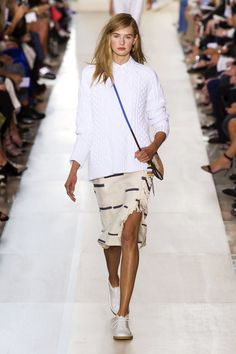 A blanket skirt looks like it was grabbed from an all white bed on the French Riviera and tied insouciantly around the waist—topped with an artist boyfriend's sweater.   - HarpersBAZAAR.com