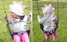 Getting this for amelia! Dino Hoodie CHILD Customized Dinosaur Jacket by ElleDeeDesign, $28.00
