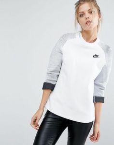 Nike Premium Crew Neck Panel Detail Sweatshirt