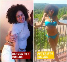 This is Katie Litchfield  on a Raw Til 4 diet. 130 lbs - Feb 2014 105 lbs - August 2014 Healed acne, fatigue, post-partum depression