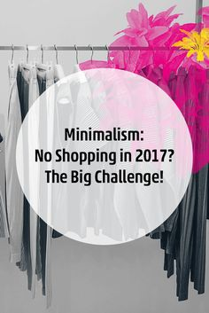"Here Is My Big Minimalism Challenge ""No Shopping in 2017"" and The Question: What Should I Write About Now?"