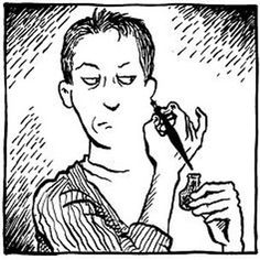 Alison Bechdel, cartoonist, creator of the groundbreaking lesbian strip Dykes To Watch Out For, brilliant story teller, able to pack intense detail into every panel. One of the greats. History Of Illustration, Illustration Art, Alison Bechdel, Ralph Steadman, Literary Genre, Comic Styles, Comic Artist, Art Inspo, Line Art
