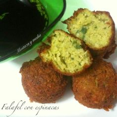 Mostaza y media: Falafel de espinacas con salsa de Dim Sum  #veganrecipes