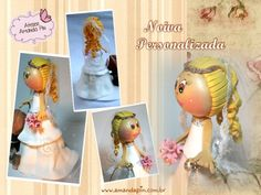 Noivos personalizados + noiva + topo de bolo casamento