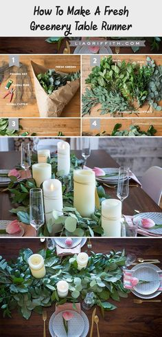 How to Make a Fresh Greenery Table Runner #weddingdecorWall #Beachweddingdecor #weddingdecorEntrance #weddingdecorOnABudget #weddingdecorPink Tropical Wedding Decor, Wedding Decorations On A Budget, Wedding Ideas, Brunch Table Setting, Industrial Wedding Decor, Minimalist Wedding Decor, Traditional Wedding Decor, Table Runners, Blog
