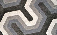 Detail of geometric rug design from the Weitzman Halpern collection for Crosby Street Studios. www.crosbystreetstudios.com