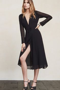 The Alice Dress lets you look like a lady but still show off some of those special parts. This is part of the No Red Carpet Needed Collection - 25% of the sales generated from this style will go to support sustainability education at the MUSE School CA. https://www.thereformation.com/products/alice-dress-black?utm_source=pinterest&utm_medium=organic&utm_campaign=PinterestOwnedPins