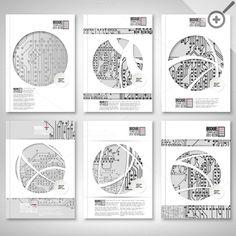 Scientific brochures or flyers by VectorShop on Creative Market