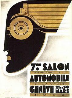 Captures Art Deco in poster design - 1930 - Art Deco Ad - @~ Watsonette