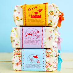 nostalgia soap sacks - adorable!