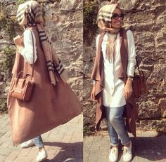 Discover images and videos about Hijab Style from all over the world on We Heart It. Hijab Fashion 2016, Street Hijab Fashion, Modest Fashion, Fashion Outfits, Casual Hijab Outfit, Hijab Chic, Turkish Fashion, Islamic Fashion, Modest Wear