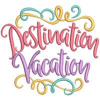 Vacation Word Art 2 Word Art Word Art Design Embroidery Store