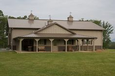 One of a Kind Metal Building Home w/ Porch & Farm Shop! (HQ Pictures) | Metal Building Homes