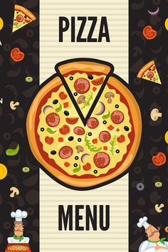 Pizzeria menu template. Italian kitchen cuisine food pizza i #pizza #menu #pizzeria #dessert #price #list #hot #breakfast #salad #drink Pizzeria Menu, Restaurant Menu Template, Menu Restaurant, Scene Creator, Line Design, Journal Cards, Design Bundles, School Design, Graphic Illustration