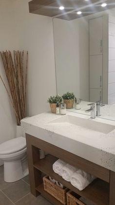 Sinks, Powder Room, Vanity, Bathroom, House, Trough Sink, Vanity Area, Bath Room, Lowboy