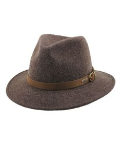 Cowboy Felt Hat with Pin Buckle Belt Around for Steampunk costumes