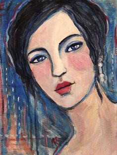 Melodie  Original Mixed Media Painting by ArtcyLucy on Etsy, by Roberta Schmidt