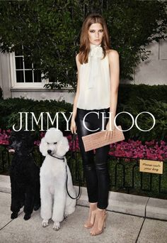 Jimmy Choo ad...the poodles add the class ;D