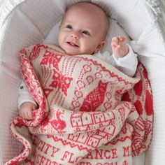 Personalised Knitted Alphabet Baby Blanket - baby care