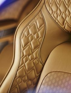 Aston Martin has released first official interior photos of the Lagonda luxury sedan. The luxury sedan will be powered by an updated Custom Car Interior, Car Interior Design, Automotive Design, Aston Martin Lagonda, Automotive Upholstery, Car Upholstery, Vw Lt, Leather Seat Covers, Truck Accessories