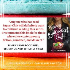 This review makes me smile every time I read it. Because who doesn't love fiction, romance, and dessert? And since we're talking things that go together deliciously, tell me: what's your favorite treat to consume while reading? I'm a tea and gluten-free cookie fan myself.