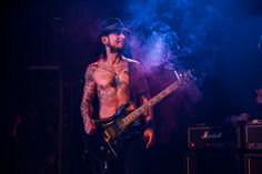 It's getting hot in here. Guitarist Dave Navarro smokes the stage with Camp Freddy during a performance on Dec. 31, 2013, in West Hollywood, Calif.