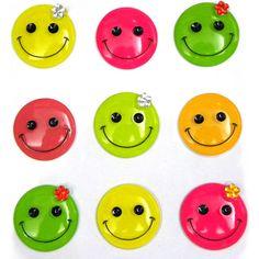 Smiley Faces 16 Pcs Dimensional Stickers Jolee/'s Boutique NIP